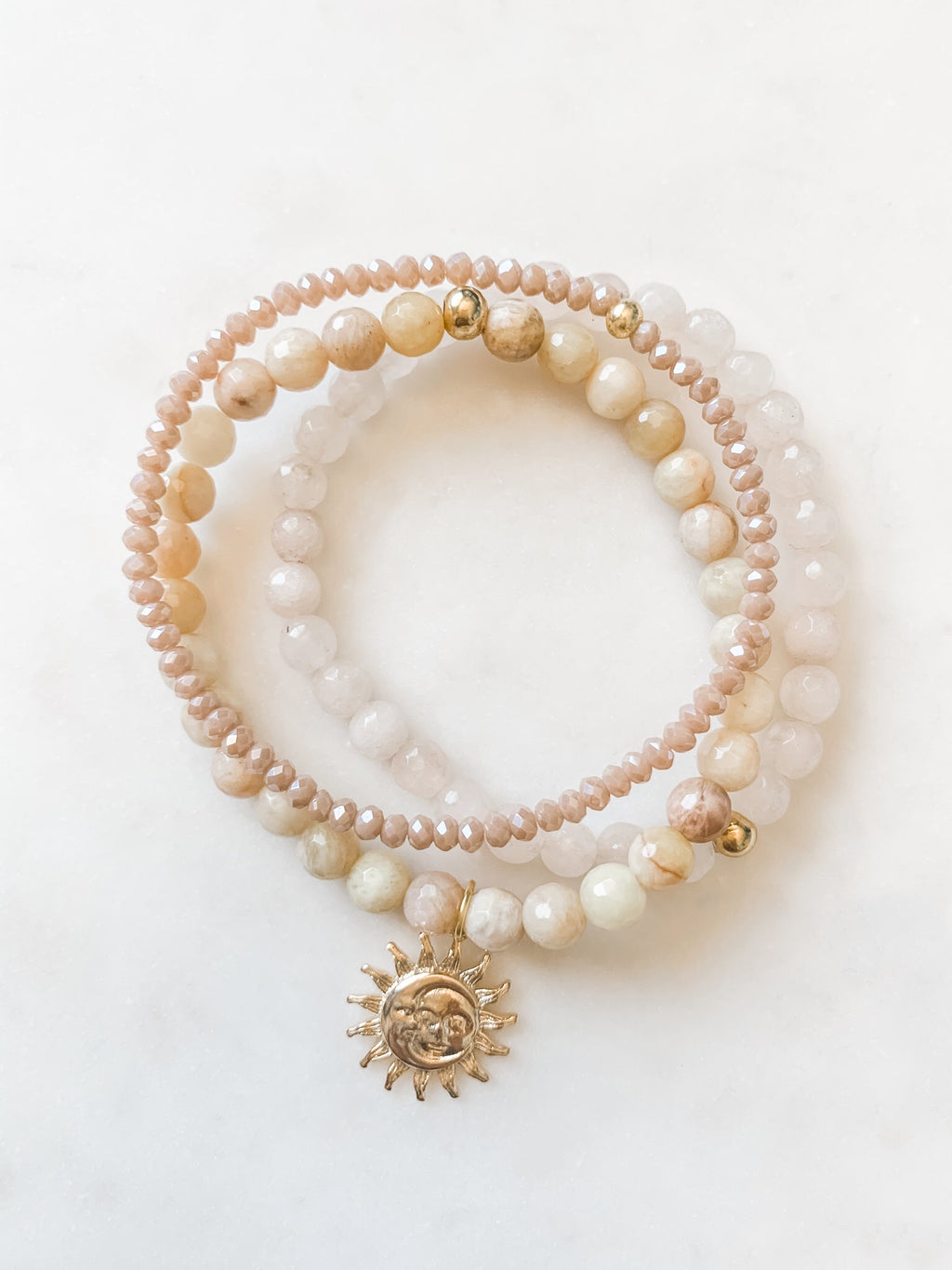 Golden Sunset Bracelet Set - The Pretty Eclectic