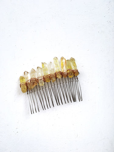 Citrine Quartz Comb