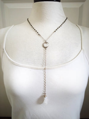 Pyrite and Quartz Lariat - The Pretty Eclectic