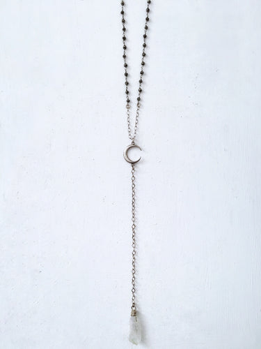 Pyrite and Quartz Lariat