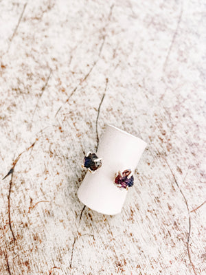 2 Stone Cuff Ring - The Pretty Eclectic