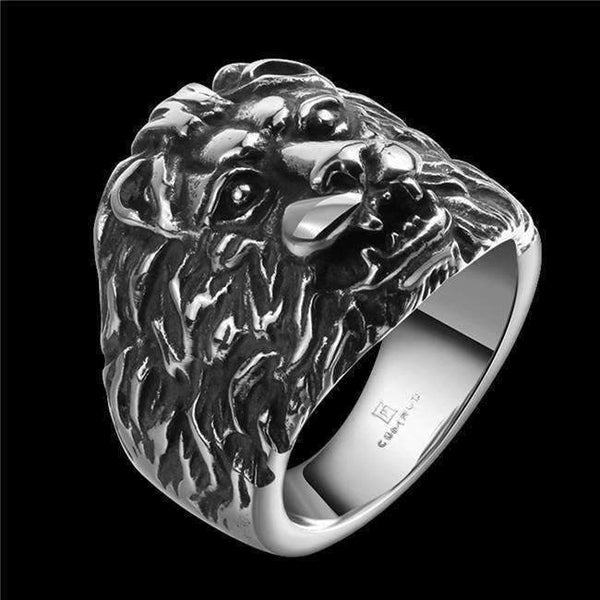 2017 Fashion Rock Punk Style Lion Ring for Men-Rings-Amboo MarKt Store