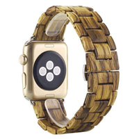 3 Colors Natural Wood Wrist Watch For Apple Watch Series 2 / 1-Neutral Watches-Amboo MarKt Store