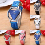 5 Colors New Design Triangular Dial Unisex Quartz Watch-Neutral Watches-Amboo MarKt Store