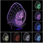 7 Colors Changing Skull USB Optical Illusion 3D LED Lamp-Night Lights-Amboo MarKt Store