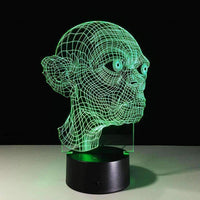 7 Colors New Skull Head Mischief 3D LED USB Lamp-Night Light-Amboo MarKt Store
