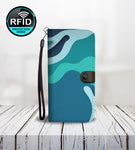Abstract Wallet Phone Case In Blue-Wallet Case-Amboo MarKt Store
