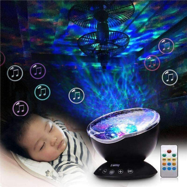 Amazing 7 Colors Remote Control Ocean Projector-Night Light-Amboo MarKt Store