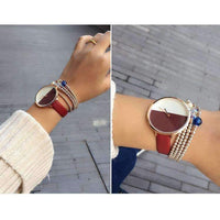 Black White Design Simple Style Watch for Women-Fashion Women Watches-Amboo MarKt Store