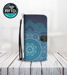 Blue Wallet Phone Case Ethnic Style-Wallet Case-Amboo MarKt Store