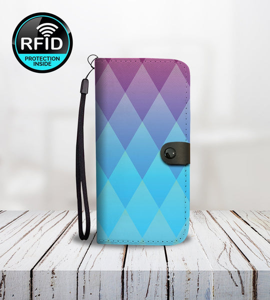 Diamond Colored Wallet Phone Case-Wallet Case-Amboo MarKt Store