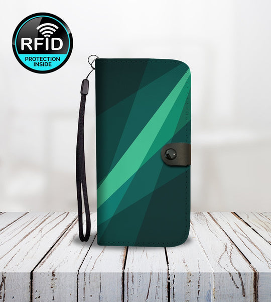 Geometric Wallet Phone Case with Wavy Shapes-Wallet Case-Amboo MarKt Store