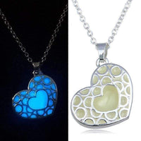 Glow in the Dark Necklace with Silver Plated Heart-Necklaces & Pendants-Amboo MarKt Store