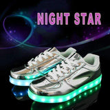 Gold Silver Fashion LED Luminous Shoes-Glowing Shoes-Amboo MarKt Store