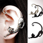 Gothic Punk Temptation Cat Bite Ear Cuff Wrap Clip Earring-Clip Earring-Amboo MarKt Store