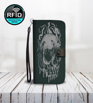 Head Skull Wallet Phone Case-Wallet Case-Amboo MarKt Store