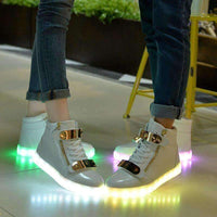 Hot Sale Black White LED Shoes for Adults-Glowing Shoes-Amboo MarKt Store