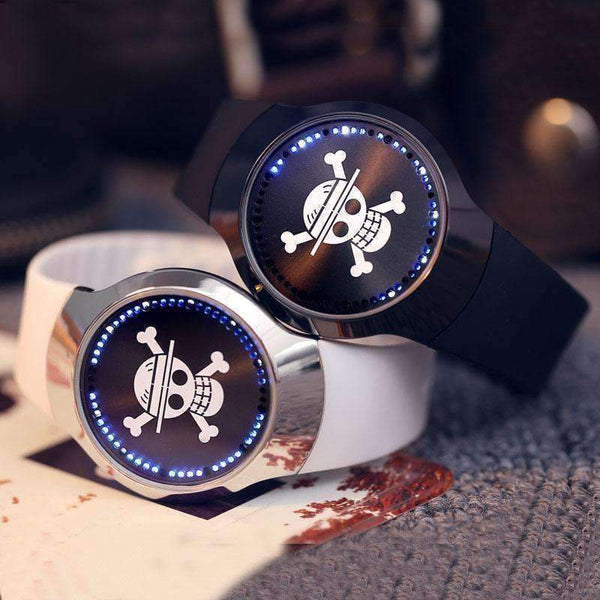 Minimalist Style LED Touch Screen Silicone Band Skull Watch for Men-Fashion Men's Watch-Amboo MarKt Store