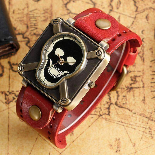 Special Design Square Dial Unisex Cool Gothic Skull Head Watch-Neutral Watches-Amboo MarKt Store