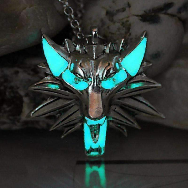 The Witcher 3 Wild Hunt Wolf Luminous Necklace-Necklaces & Pendants-Amboo MarKt Store