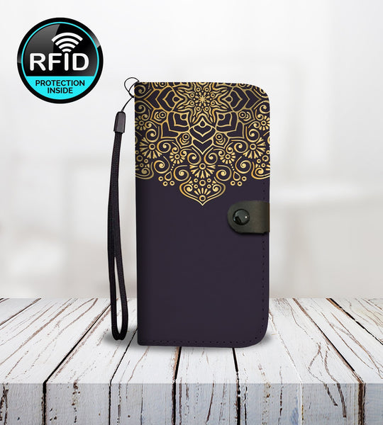 Wallet Phone Case with Luxury Ornaments2-Wallet Case-Amboo MarKt Store