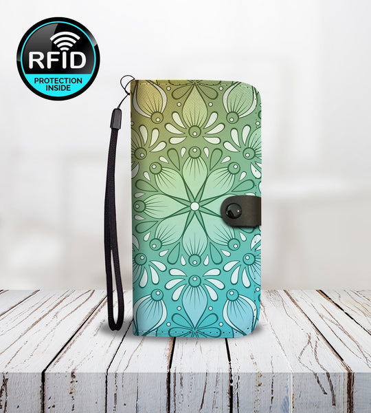 Wallet Phone Case with Mandalas1-Wallet Case-Amboo MarKt Store