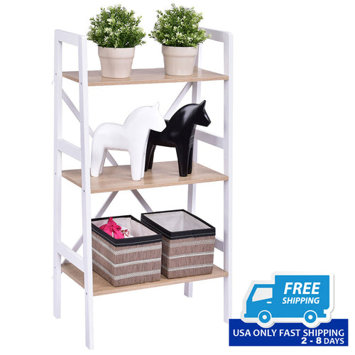 3-Tier Storage Display Shelf Rack Bookshelf