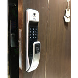 Smart wifi fingerprint digital door lock Model#323A-Silver
