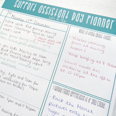 Support Assistant Planner Pad