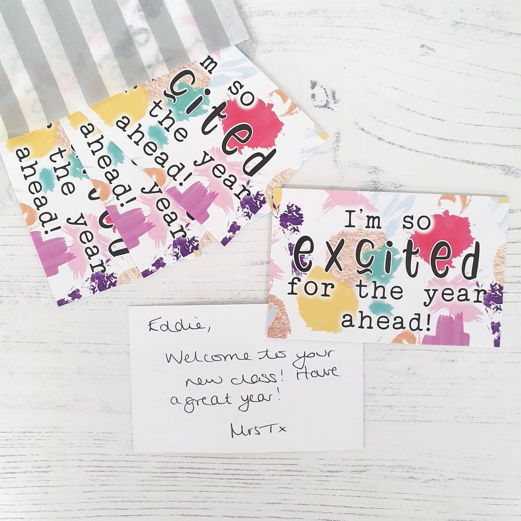 LIMITED EDITION Welcome Praise Cards: I'm so excited for the year ahead! (50 cards)
