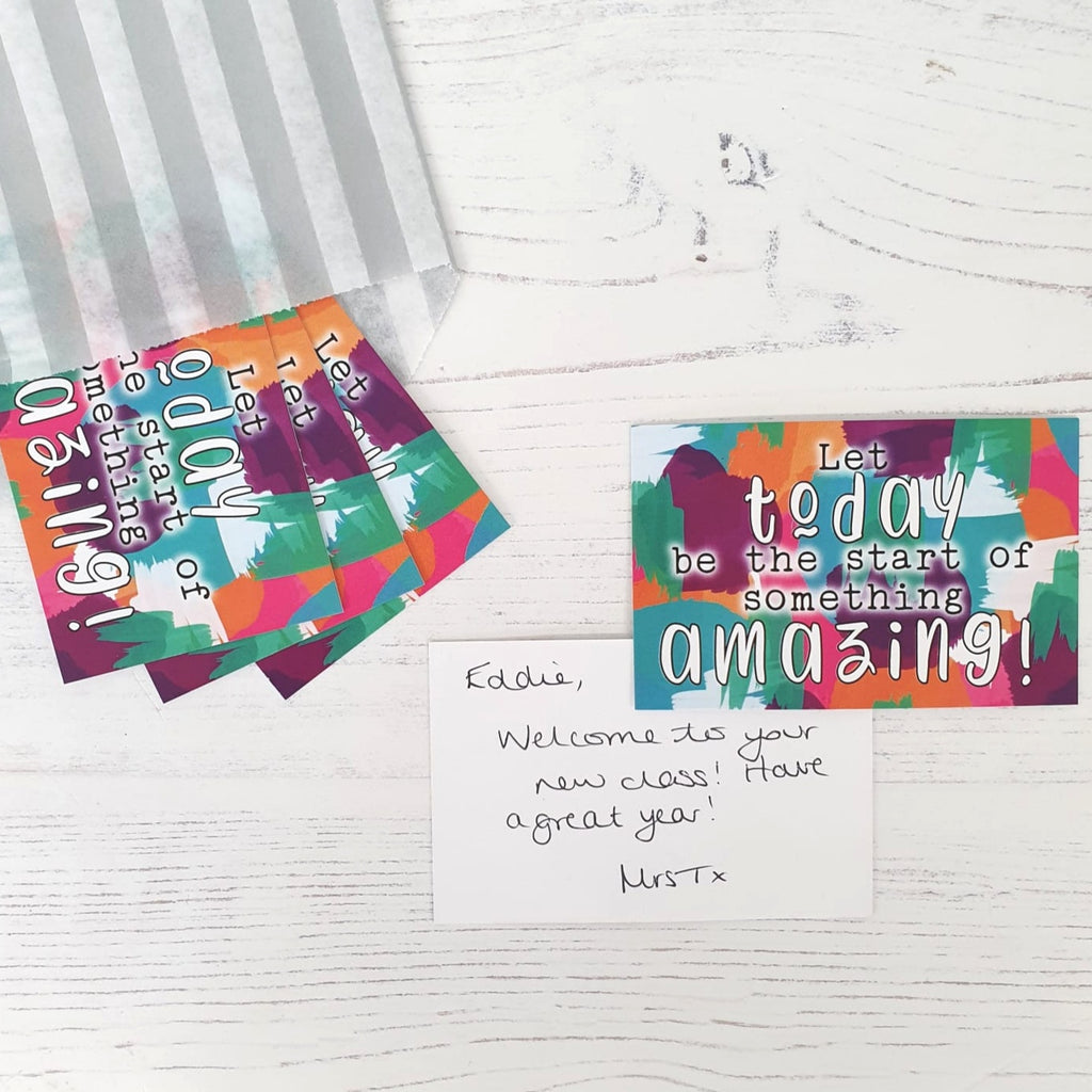 LIMITED EDITION Welcome Praise Cards: Let today be the start of something amazing! (50 cards)