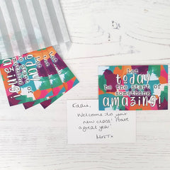 LIMITED EDITION Welcome Praise Cards: Let today be the start of something amazing! (35 cards)