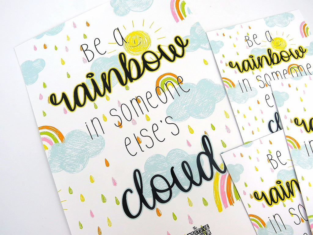 'Be a rainbow' Postcards
