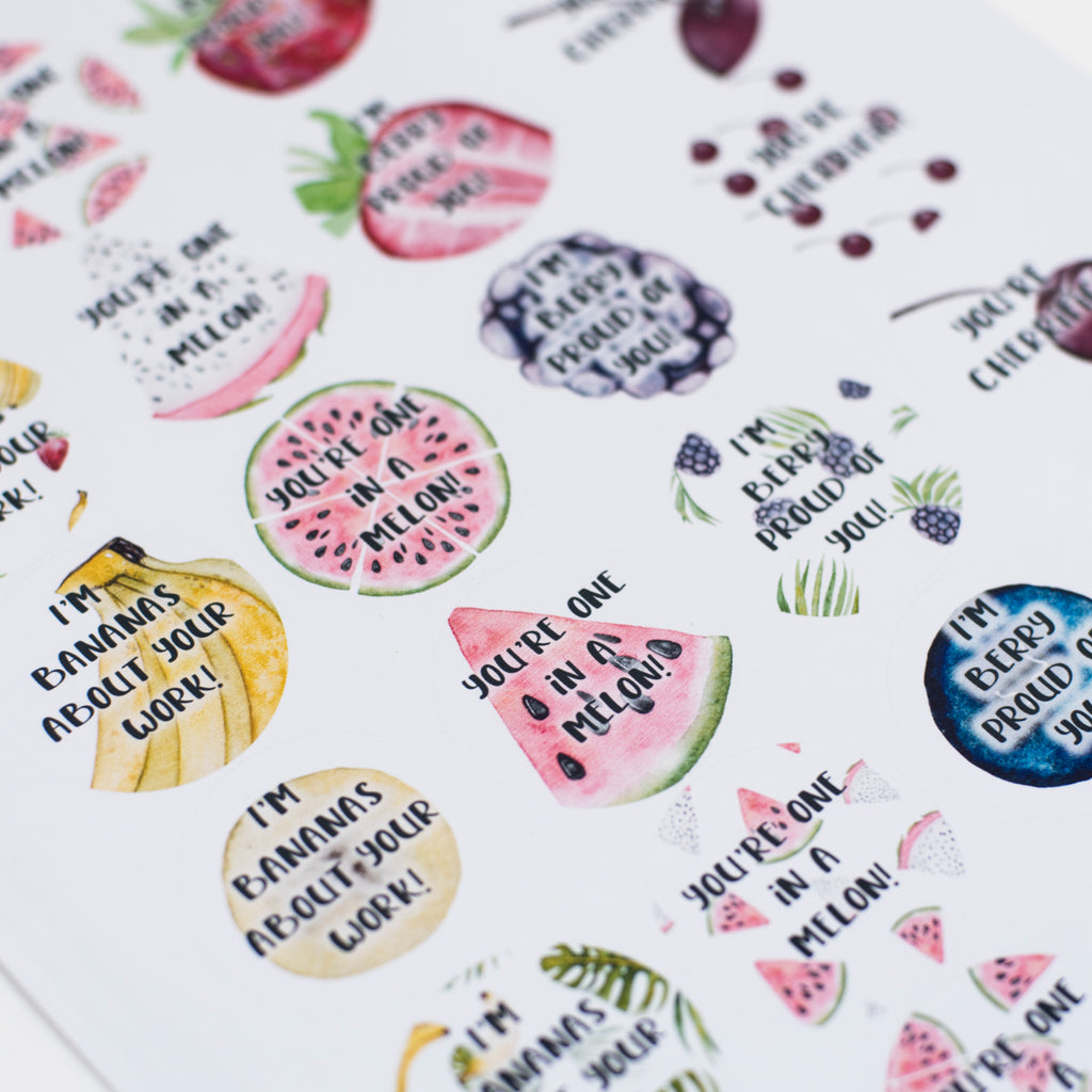 Funny Fruit Stickers