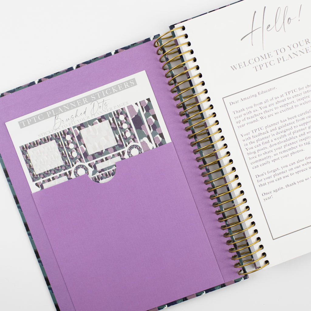 Brushed Dots Academic Planner (Undated)