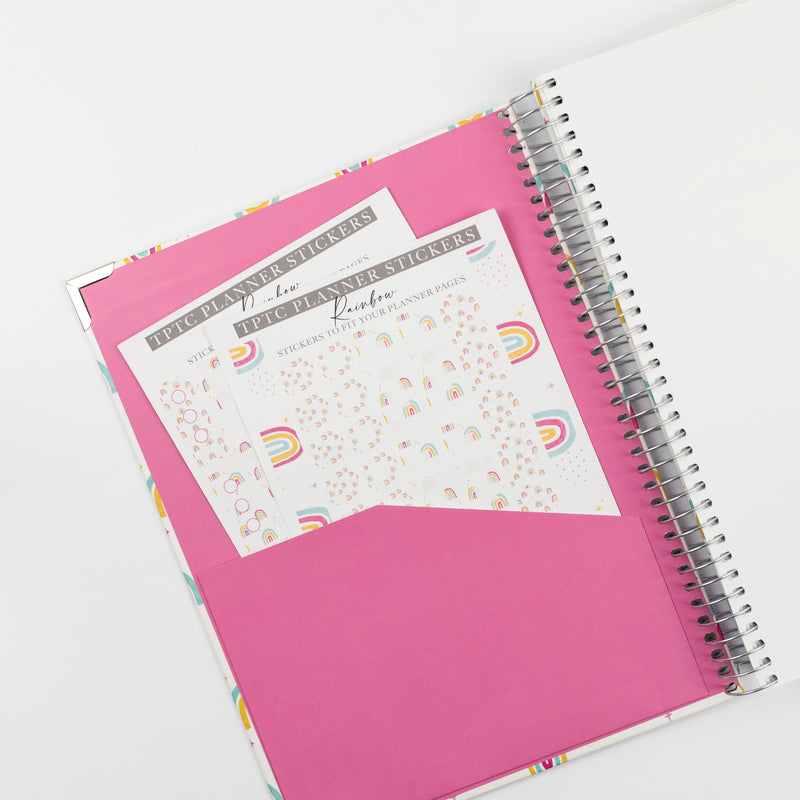 Rainbow Planner Sticker Set 2021-2022