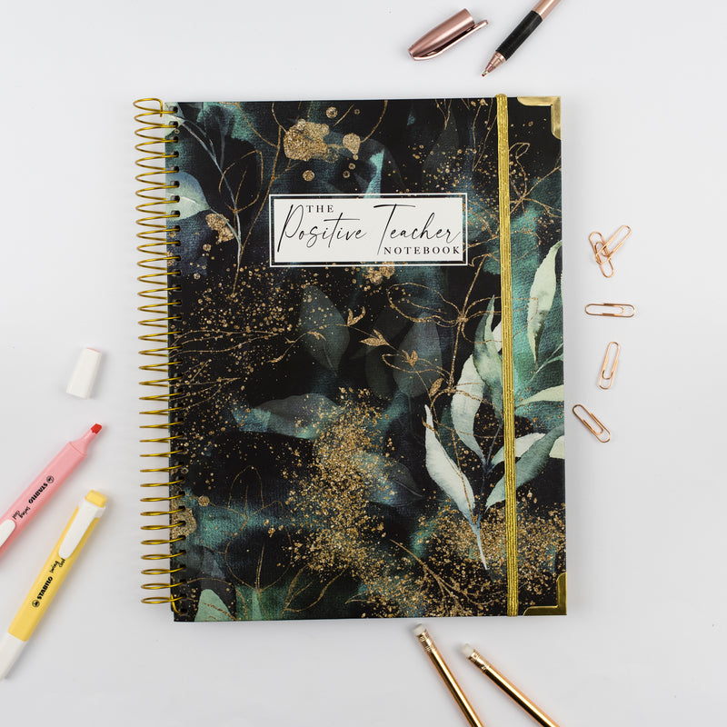 The Positive Teacher Notebook - Emerald Forest