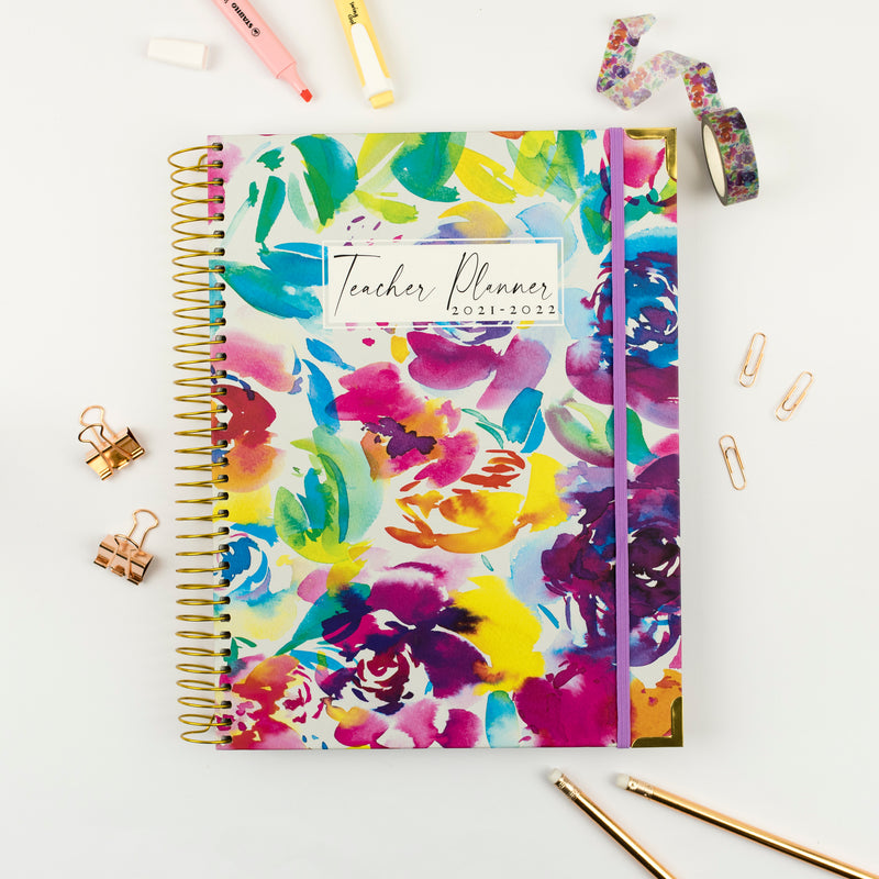 Painted Rose Teacher Planner 2021-2022