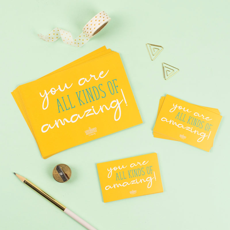 'You are all kinds of Amazing' Teacher Wellbeing Praise Cards