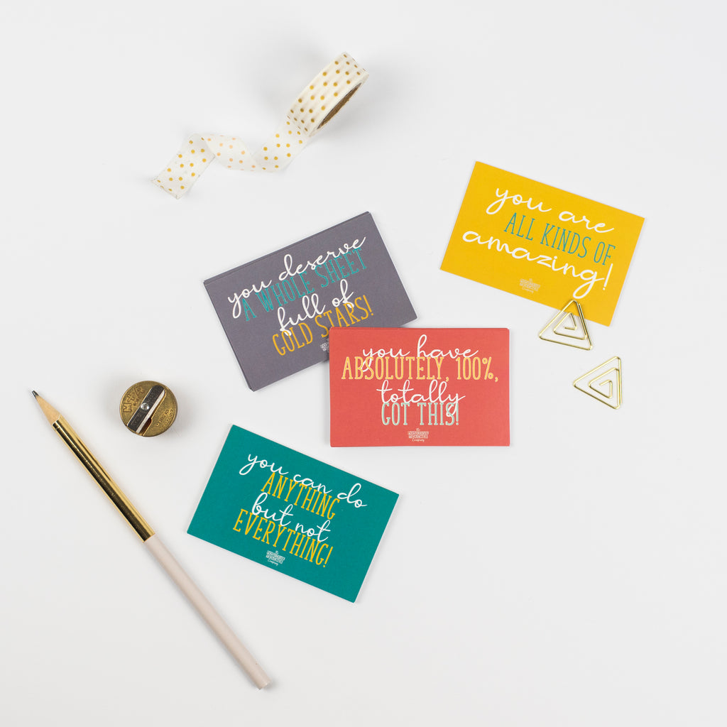 'You can do anything but not everything.' Teacher Wellbeing Praise Cards
