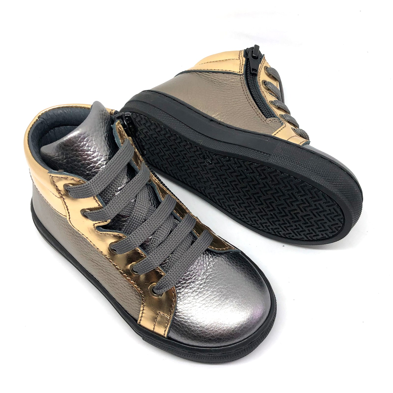 Gracie High Top Trainers Metallic