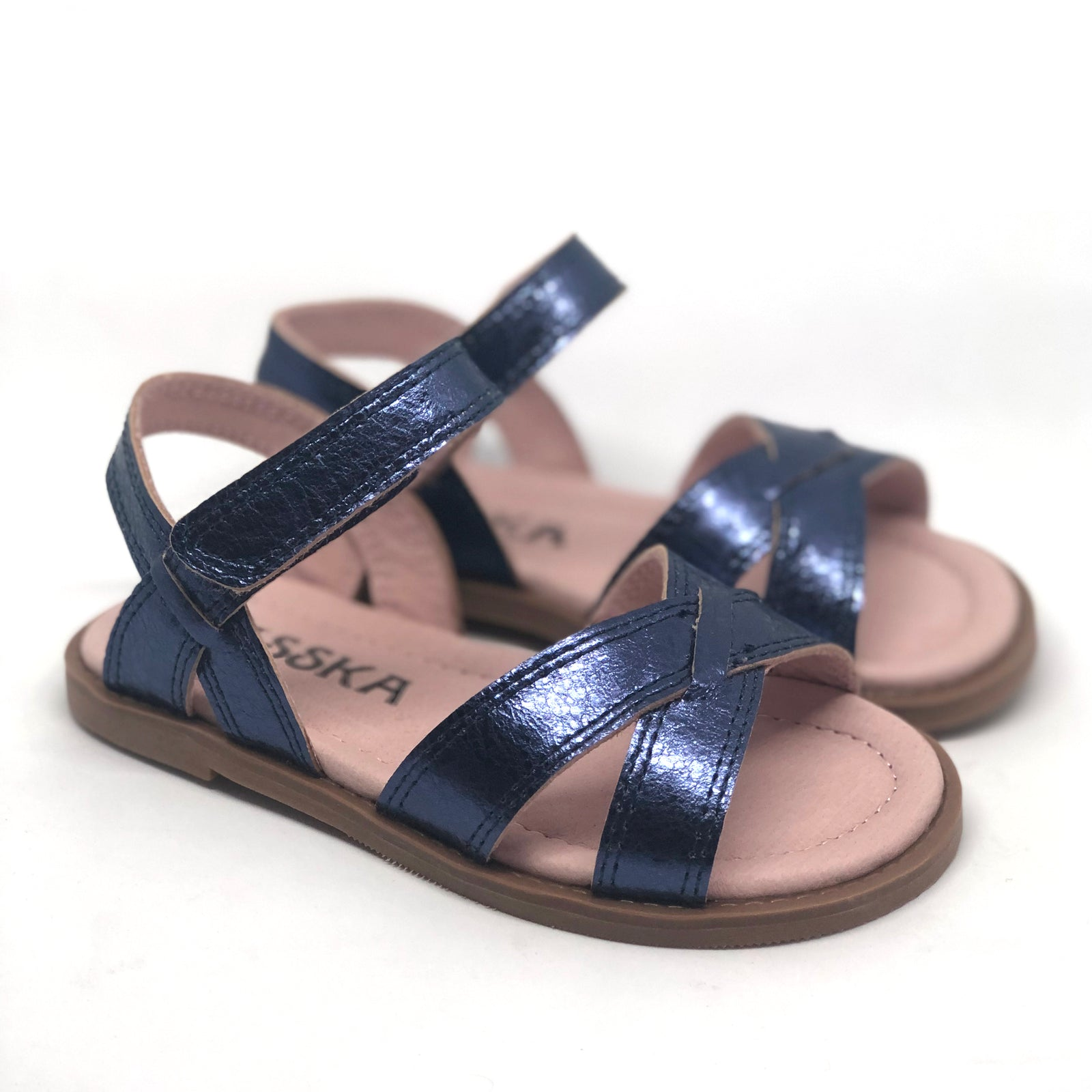 Ava Kids Blue Metallic