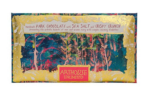 'ARTHOUSE Unlimited' Handmade Dark Chocolate with Sea Salt and Crispy Crunch
