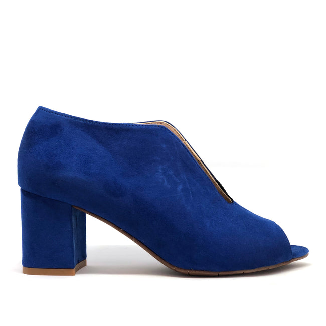 Fink Electric Blue Faux-Suede