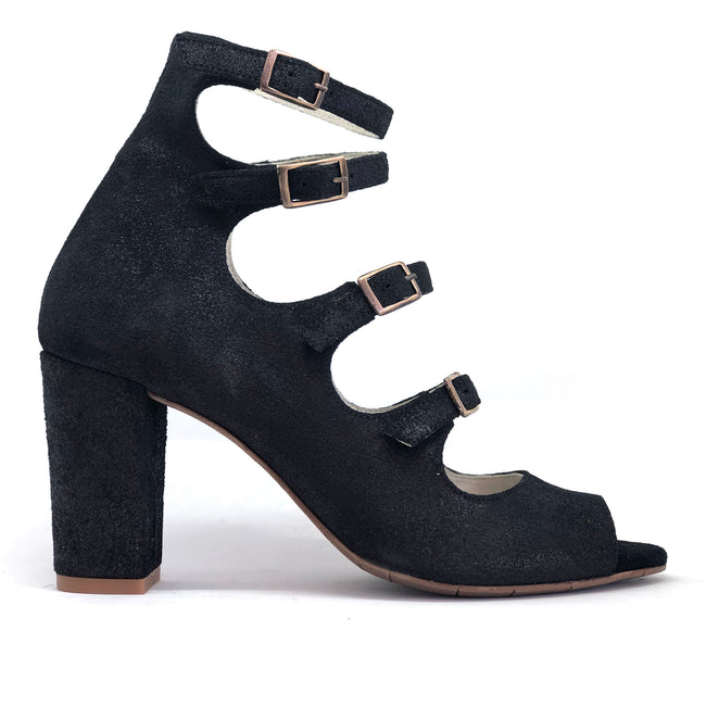 Hip Black Suede