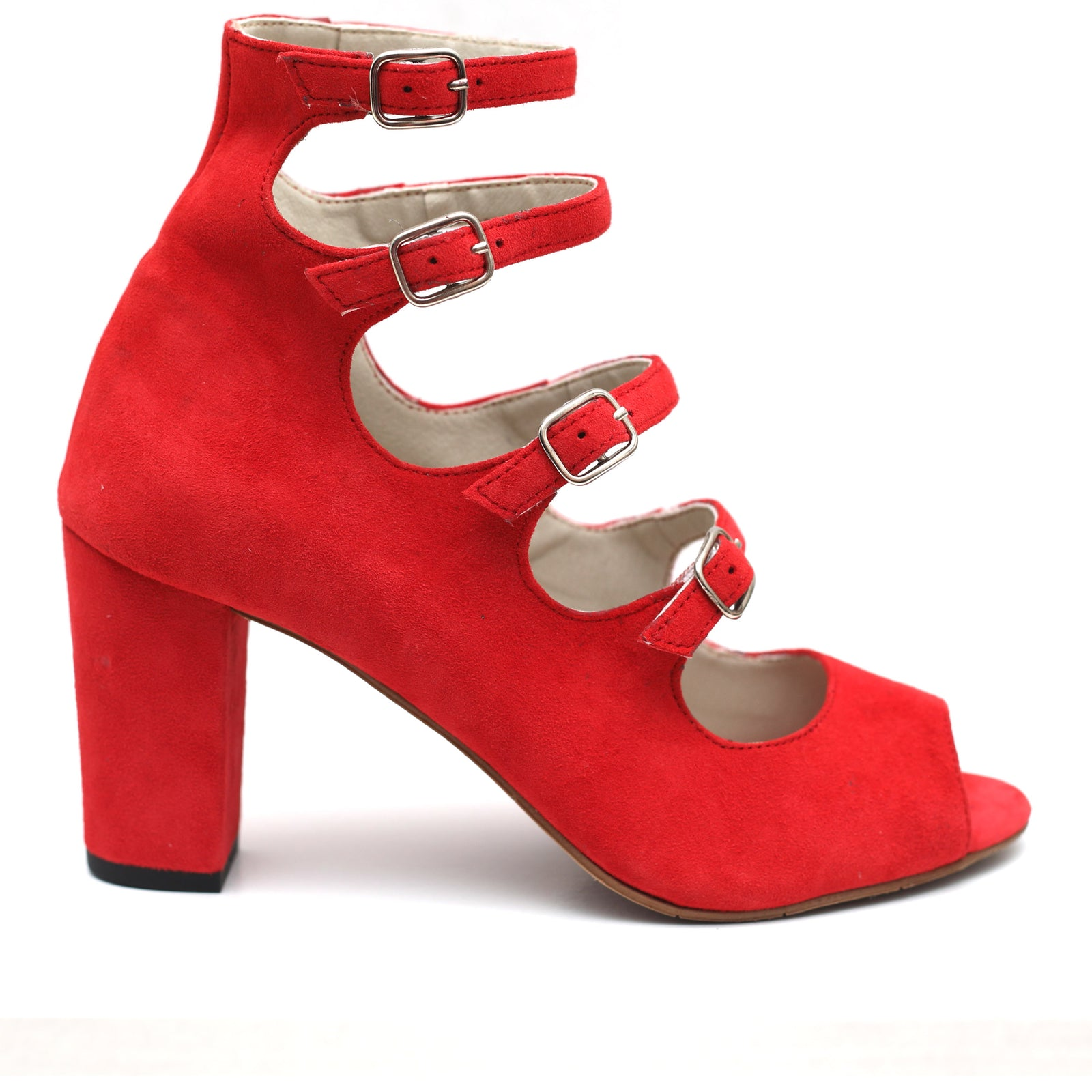 Hip Red Suede