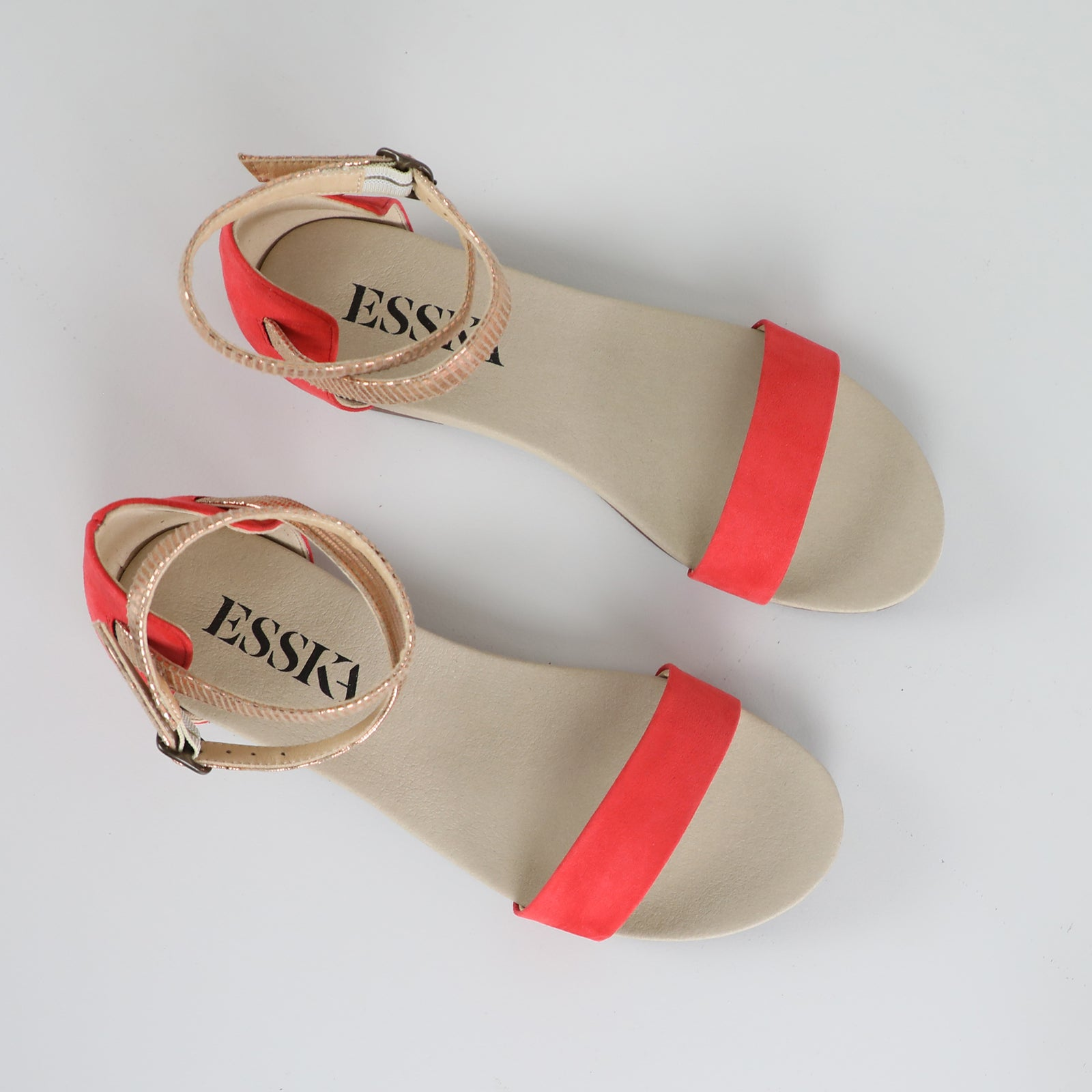 India Coral Faux-Suede