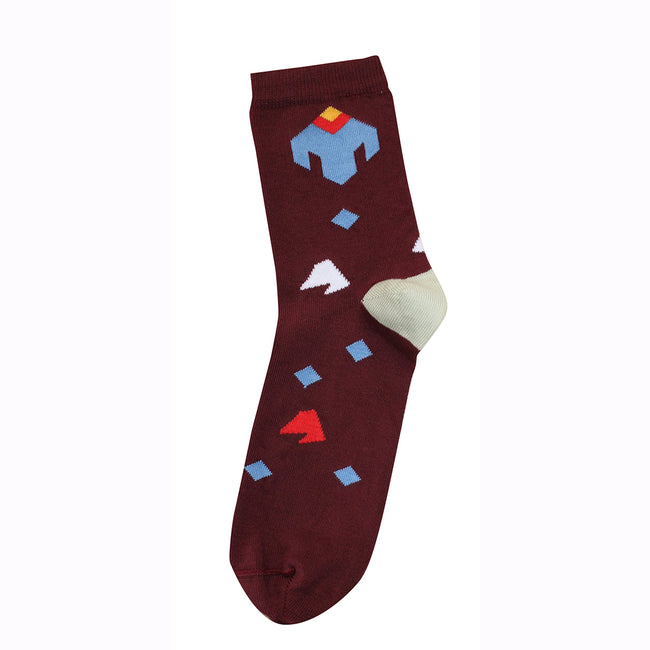Socks Memories Maroon