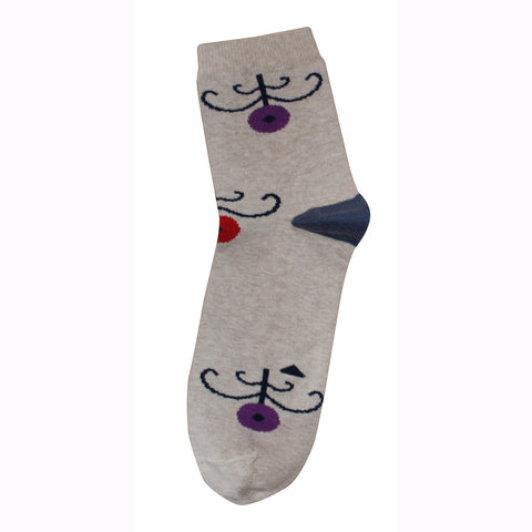 Socks Spring Brown + Grey