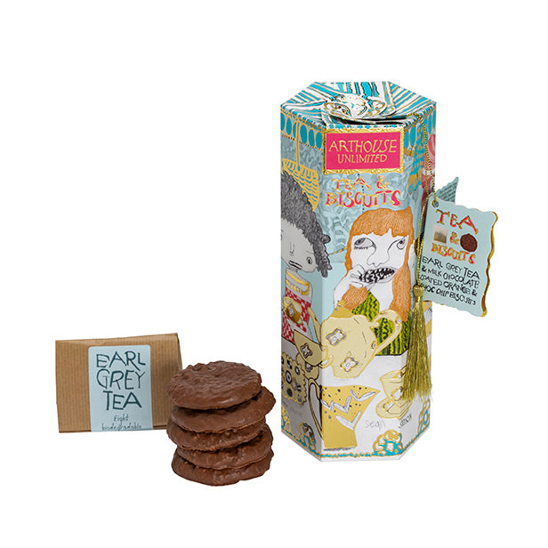 'ARTHOUSE Unlimited' Tea & Biscuits - Earl Grey and Orange Chocolate Chip Biscuits